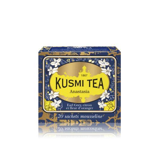 韩际新世界网上免税店-KUSMI TEA-TEA-ANASTASIA - BOX OF 20 MUSLIN TEA BAGS - 44g 茶