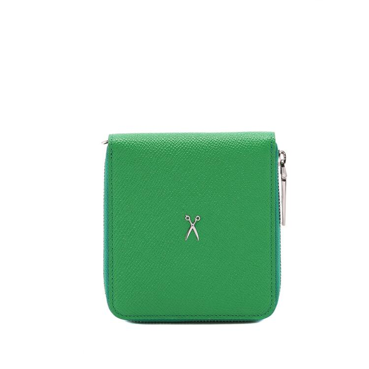 韩际新世界网上免税店-JOSEPH&STACEY-钱包-0JSJ1WT40802F Easypass OZ Signature Wallet half BLOOMING GREEN 短款钱包