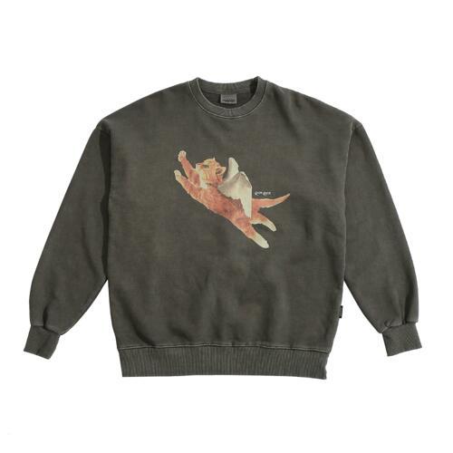 PIGMENT CATPID SWEATSHIRT CHARCOAL