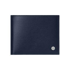 韩际新世界网上免税店-万宝龙-钱包-U0118654 4810 WESTSIDE 6CC WALLET WITH MONEY CLIP SMALL BLUE 短款钱包