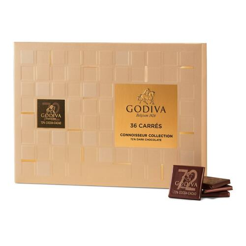 韩际新世界网上免税店-歌帝梵-CHOCOLATE_SWEETS-72% Dark Carres 36pcs 180g 巧克力
