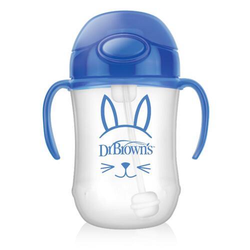 신세계인터넷면세점-닥터브라운-BABY FEEDING-추추빨대컵 블루