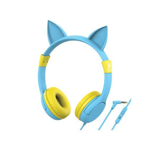 韩际新世界网上免税店-ICLEVER-EARPHONE_HEADPHONE-ICLEVER HEARING PROTECTION FOR KIDS MICRO HEADSET BLUE 儿童耳麦