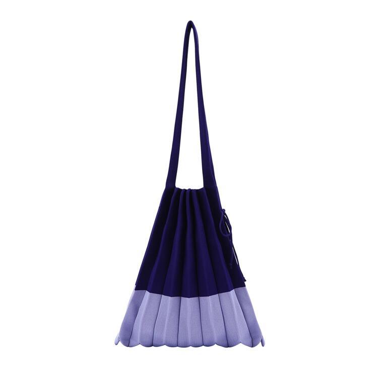 韩际新世界网上免税店-JOSEPH&STACEY-女士箱包-Lucky Pleats Knit M Mix Blueberry 单肩包