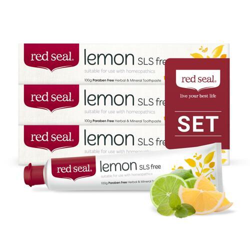 韩际新世界网上免税店-RED SEAL-FOOD ETC-[REDSEAL] 柠檬牙膏三件套 SET