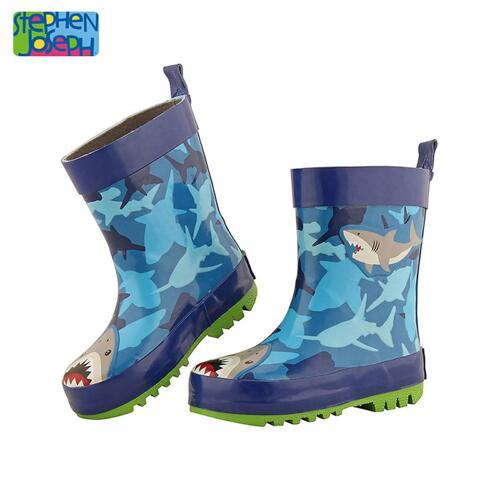 SJ RAINBOOTS SHARK SZ 7 (S15) 儿童雨靴