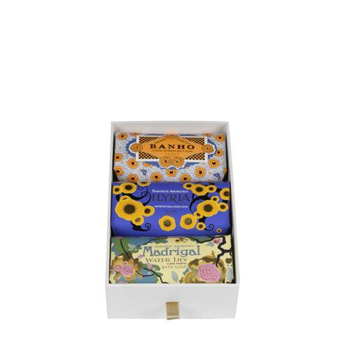 신세계인터넷면세점-클라우스 포르토-Shower-Bath-[유통기한2021년11월]GIFT BOX 3 SOAPS BANHO/ILYRIA/MADRIGAL 150g * 3Pcs