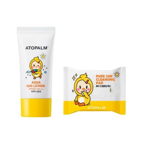 韩际新世界网上免税店-爱多康--NEW ATOPALM AQUA SUN LOTION 儿童防晒乳液 60ml (2020, 企划套装)