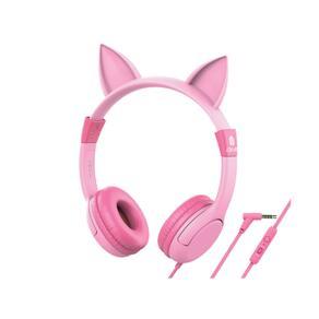 어린이 청력보호 마이크 헤드셋 핑크