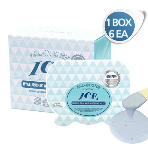 신세계인터넷면세점-린제이-Face Masks & Treatments-하이알루로닉 올인원 1박스 (모델링팩-6EA)
