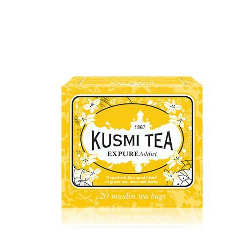 韩际新世界网上免税店-KUSMI TEA-TEA-EXPURE ADDICT - BOX OF 20 MUSLIN TEA BAGS-44g 茶
