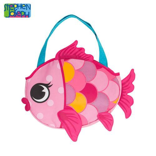 SJ BEACH TOTE (w/sand toy play set)  FISH (F18) 沙滩包