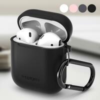 韩际新世界网上免税店-SPIGEN-SMART DEVICE ACC-Airpods 钥匙圈扣硅胶盒 黑色