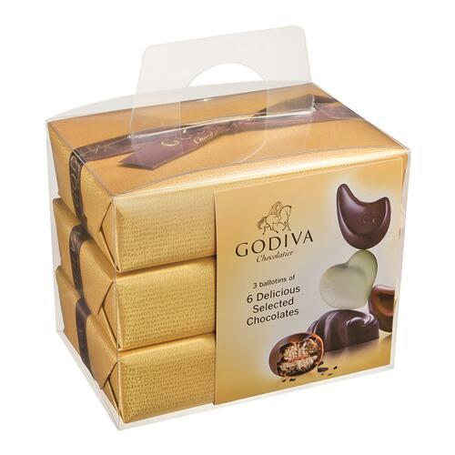 韩际新世界网上免税店-歌帝梵-CHOCOLATE_SWEETS-Gold Ballotin 3x6 pcs 210g 巧克力