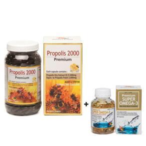 [유통기한2022-02]PREMIUM PROPOLIS SOFTGEL 2000MG 365CAPS