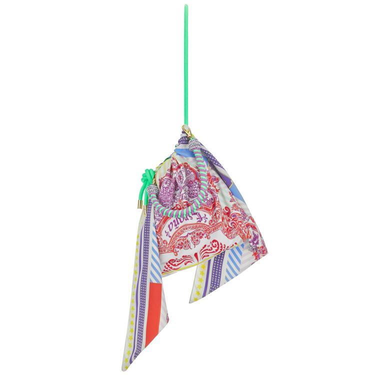 韩际新世界网上免税店-NOMATTER-女士箱包-scarfmatter bag-sunshine pink (pink multi) 单肩包