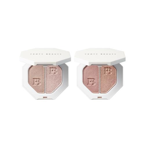 韩际新世界网上免税店-FENTY BEAUTY--电光杀手锏3D双色流光粉饼2件装