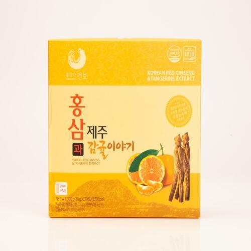 韩际新世界网上免税店-HONGSAMGA KUNBO-GINSENG-KOREAN RED GINSENG&TANGERINE EXTRACT 10g x 30包