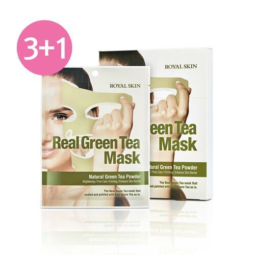 ROYAL SKIN REAL GREEN TEA MASK 面膜 3+1