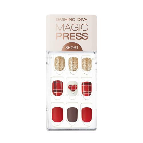 韩际新世界网上免税店-DASHING DIVA--MAGIC PRESS MDR553SS - MERRY RED (SHORT SIZE) 美甲贴(短款)