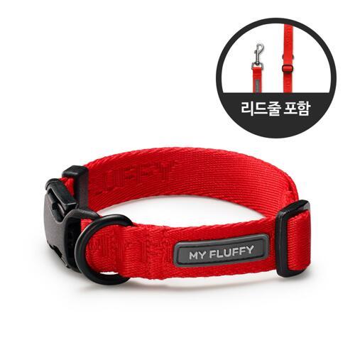 宠物狗牵引绳套装 (RED M + 2.8M 牵引绳)