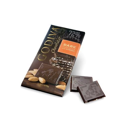 韩际新世界网上免税店-歌帝梵-CHOCOLATE_SWEETS-72% Dark Chocolate Almond Tablet 100g 巧克力