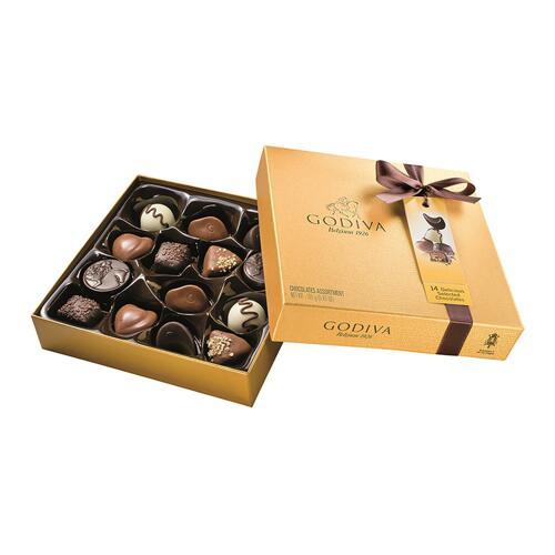 韩际新世界网上免税店-歌帝梵-CHOCOLATE_SWEETS-Gold Ballotin 14pcs 165g 巧克力