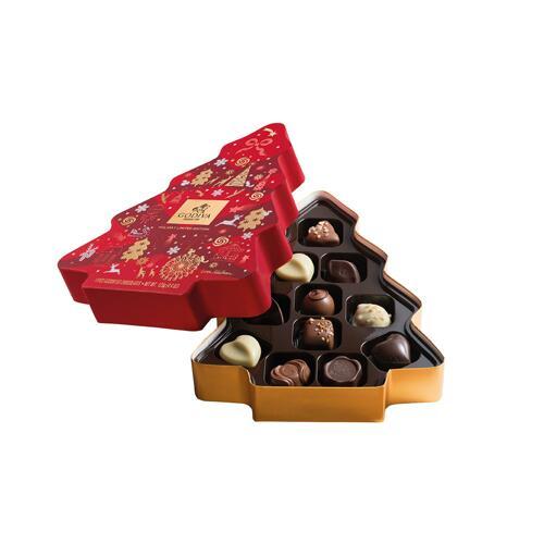 韩际新世界网上免税店-歌帝梵-CHOCOLATE_SWEETS-CHRISTMAS 2019 TREE BOX 11PCS 巧克力