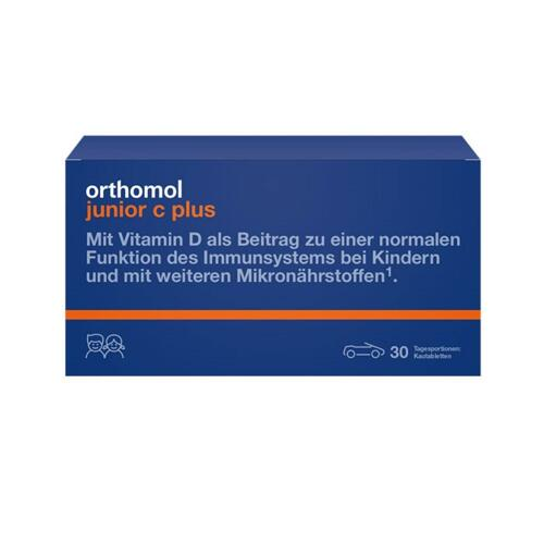 韩际新世界网上免税店-ORTHOMOL-VITAMIN-JUNIOR C PLUS CHEWABLE TYPE 儿童增强免疫维生素片 30包(有助于儿童成长)