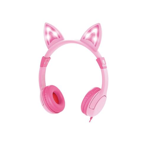 韩际新世界网上免税店-ICLEVER-EARPHONE_HEADPHONE-ICLEVER KIDS HEARING PROTECTION HEADPHONES LED PINK 儿童耳机