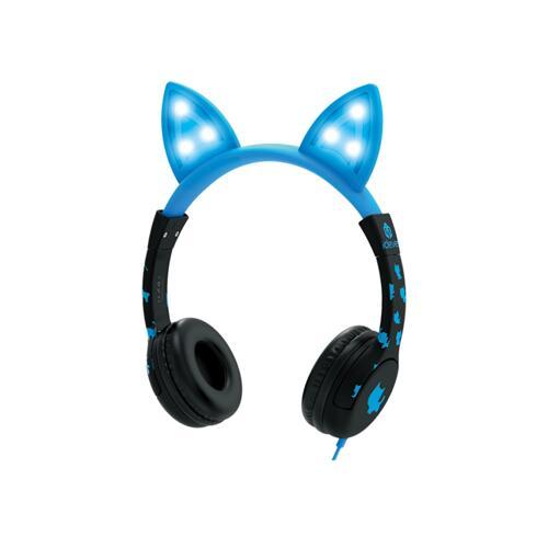 韩际新世界网上免税店-ICLEVER-EARPHONE_HEADPHONE-ICLEVER KIDS HEARING PROTECTION HEADPHONES LED BLUE 儿童耳机
