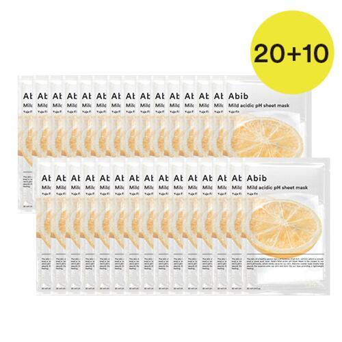 신세계인터넷면세점-아비브--약산성 pH 시트마스크 유자핏 20+10