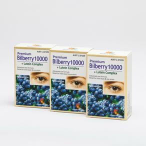 [유통기한2022-05]Premium Bilberry10000+Lutein  750mg 30caps x3pack