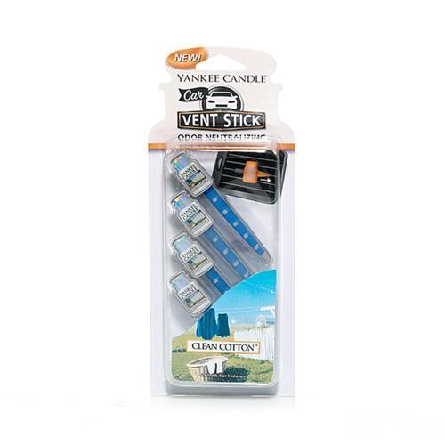 신세계인터넷면세점-양키캔들--CAR VENT STICK Clean Cotton 4g*4