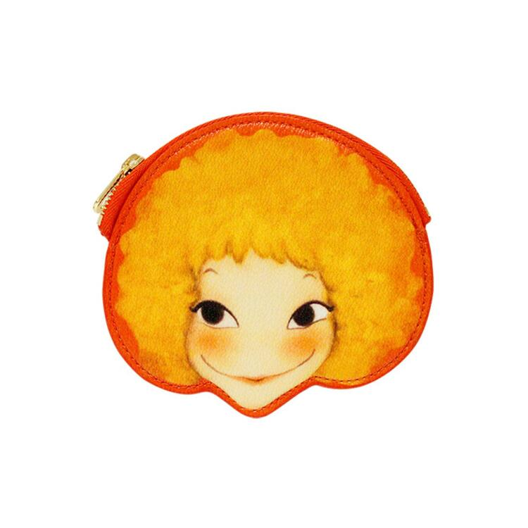 韩际新世界网上免税店-陆心媛-钱包-FACE COIN IN WALLET STRIPE SUNNY 零钱包