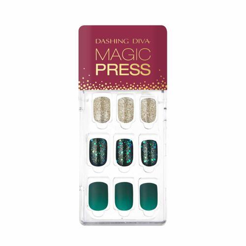 韩际新世界网上免税店-DASHING DIVA--MAGIC PRESS MDR585 - GREEN SHINE 美甲贴