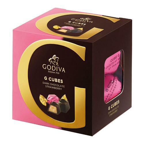 韩际新世界网上免税店-歌帝梵-CHOCOLATE_SWEETS-Dark Chocolate Strawberry G Cube Truffle (22 pieces) 175g 巧克力