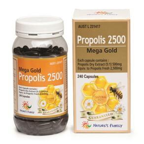 [유통기한2022-07]MEGA GOLD PROPOLIS 2500MG 240 CAPS