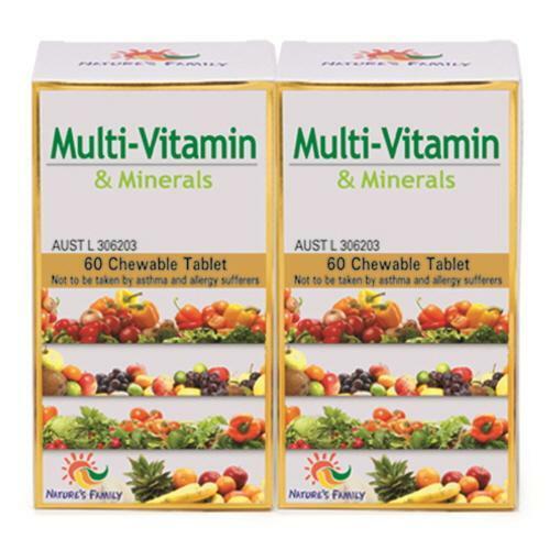 韩际新世界网上免税店-NATURES FAMILY-VITAMIN-Multi-Vitamin 综合维生素 950mg 60tabs x 2